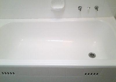 Bathroom resurfacing after shot